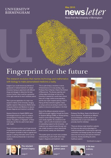 Alumni newsletter 2010 - University of Birmingham