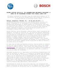 """RAINER ZIETLOW INICIA EL """"TDI ... - Bosch Argentina"""