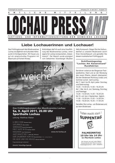 Liebe LochauerInnen! - Gemeinde Lochau