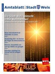 Amtsblatt der Stadt Wels Dezember 2010 (7 MB)