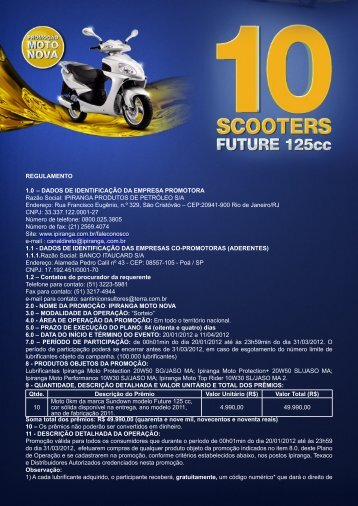 REGULAMENTO 1.0 – DADOS DE IDENTIFICAÇÃO DA ... - kmv