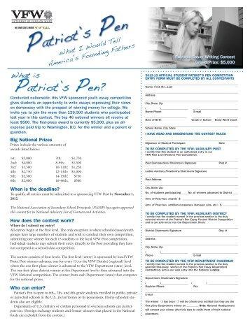 Patriot's Pen Essay Contest