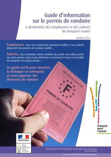Guide d'information sur le permis de conduire - DREAL Basse ...
