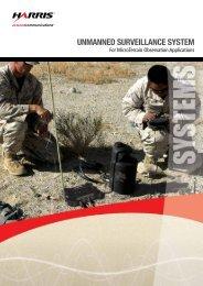 Unmanned sUrveillance system - Harris RF Communications ...