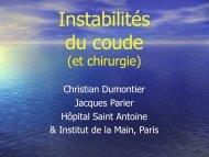 Instabilités du coude (et chirurgie) - ClubOrtho.fr