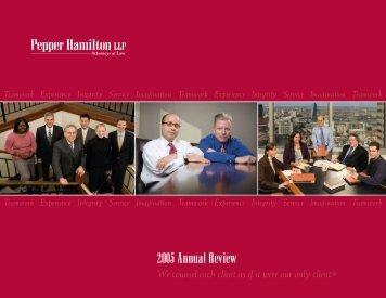 2005 Annual Review - Pepper Hamilton LLP