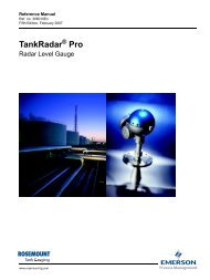 TankRadar Pro Reference Manual - Emerson Process Management