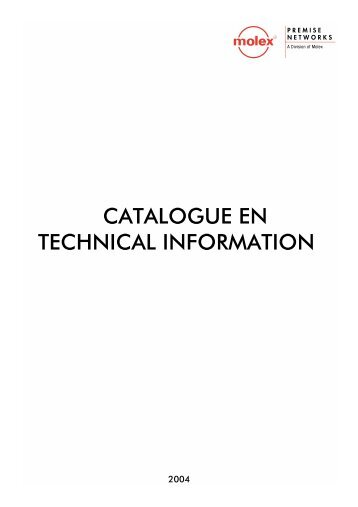 CATALOGUE EN TECHNICAL INFORMATION