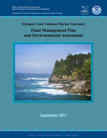 Final Management Plan - National Marine Sanctuaries - NOAA