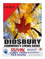 Fall 2012 - Town of Didsbury