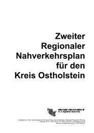 Zweiter Regionaler Nahverkehrsplan für den Kreis Ostholstein
