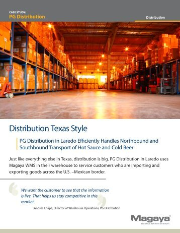 PG Distribution - Magaya