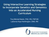 Using Interactive Learning Strategies to Incorporate Genetics - IUPUI