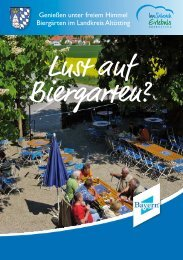 Genießen unter freiem Himmel Biergärten im ... - Landratsamt Altötting