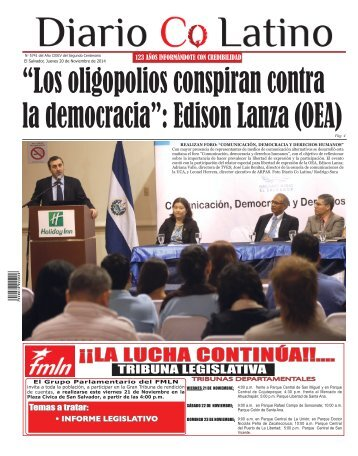 Edición 20 de Noviembre de 2014