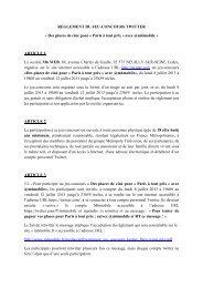 Règlement jeu-concours - Paris à tout prix - avec @m6mobile
