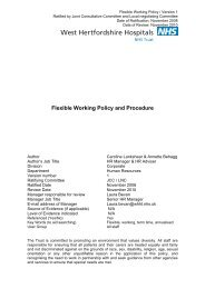 Flexible Working Policy and Procedure - West Hertfordshire ...