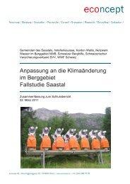 Anpassung an die Klimaänderung im Berggebiet ... - Berggebiete.ch