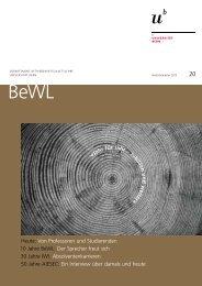 BeWL Heft 20 Inhalt.pdf - Departement BWL - Universität Bern