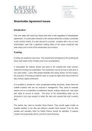 Shareholder Agreement Issues - Lavelle Coleman