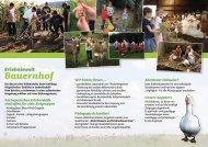 Wir bieten Ihnen... - Interessengemeinschaft Lernort Bauernhof