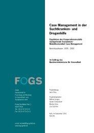 Case Management in der Suchtkranken- und ... - Fogs GmbH