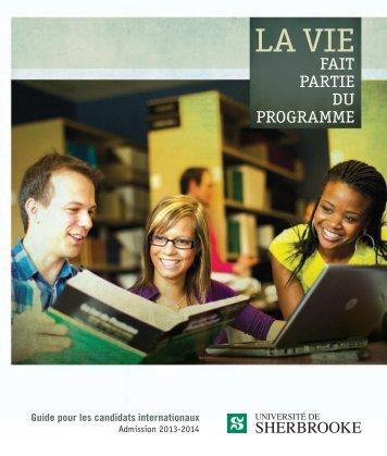 Guide pour les candidats internationaux : Admission 2013-2014