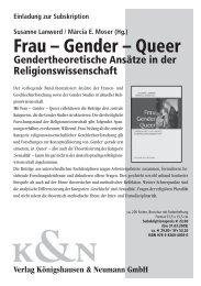 Flyer zur Neuerscheinung - Gender Studies