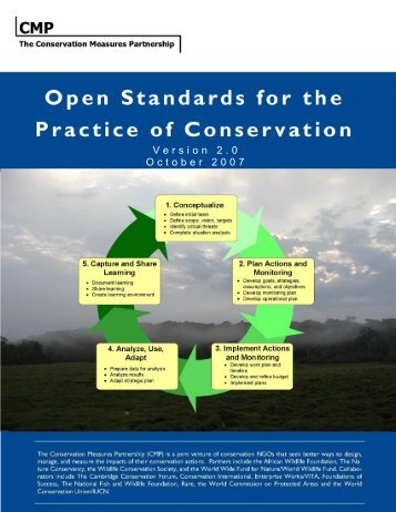 Open Standards for the Practice of Conservation