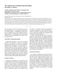 The Adolescence of Engineering Psychology - Human Factors and ...