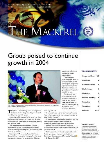 The Mackerel - Apr 2004 Download PDF - Jebsen & Jessen (SEA)