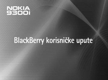Postavljanje BlackBerry Internet usluge