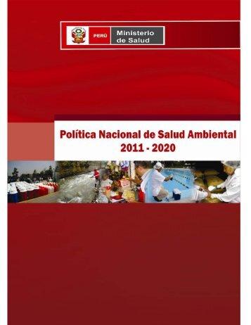 Política Nacional de Salud Ambiental 2011 – 2020 - Digesa