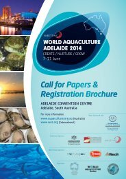 Conference Brochure - The World Aquaculture Society