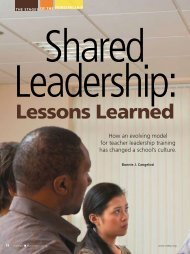 Shared leadership: Lessons learned - National Association of ...