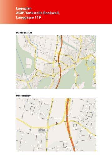 Lageplan Agip-Tankstelle Rankweil, Langgasse 119