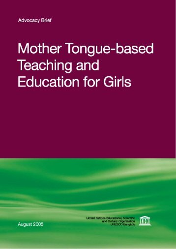 Mother Tongue-based Teaching and Education for Girls