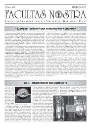 Duben 2011 / Číslo 103 - Lékařská fakulta v Plzni - Univerzita Karlova