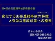 第6回山岳遭難事故調査報告書 - JMA 公益社団法人 日本山岳協会