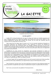 Numéro 3 - Novembre 2007 - Association du refuge des tortues