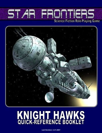 Knight Hawks Quick Reference - Star Frontiersman