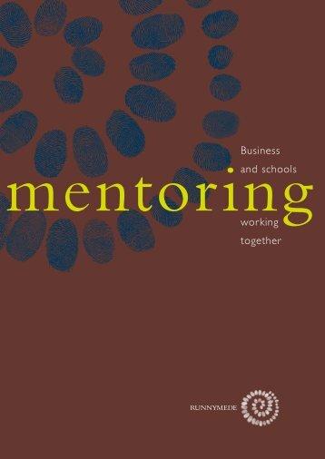 Mentoring Handbook a/w - Runnymede Trust