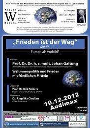 """Frieden ist der Weg"" - Global Marshall Plan"