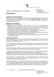 Beiblatt für die Hotelfachschule - Tourismusschulen Bludenz