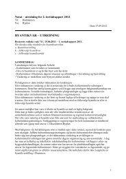 Notat – utredning for 2 - Drammen kommune