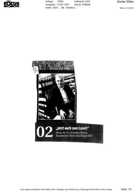 1012 kurier - Wein & Co