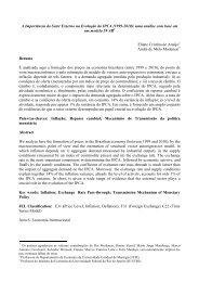 A Importância do Setor Externo na Evolução do IPCA - Instituto de ...