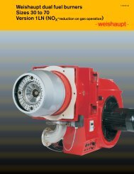 Weishaupt dual fuel burners Sizes 30 to 70 ... - Pamber Energy