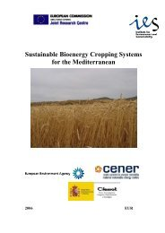 Sustainable Bioenergy Cropping Systems for the Mediterranean