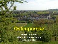 Osteoporose - Vereinigung Zuercher Internisten